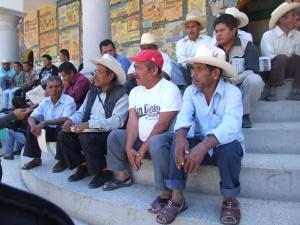 Indígenas plantón ayuntamiento tlapa