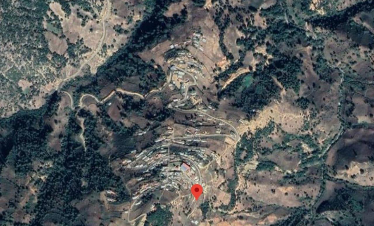 vista satelital de la comunidad San Vicente Amole, Copanatoyac
